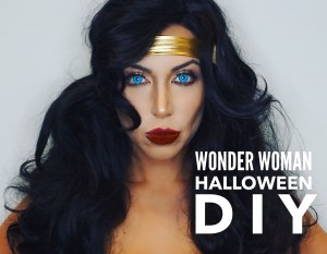 Transforming Into Wonder Woman for Halloween